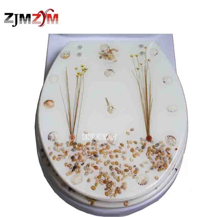 Universal Dried Flower Shells Toilet Seat Cover