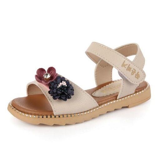 Girls Sandals Flat with open toe Leather Shoes