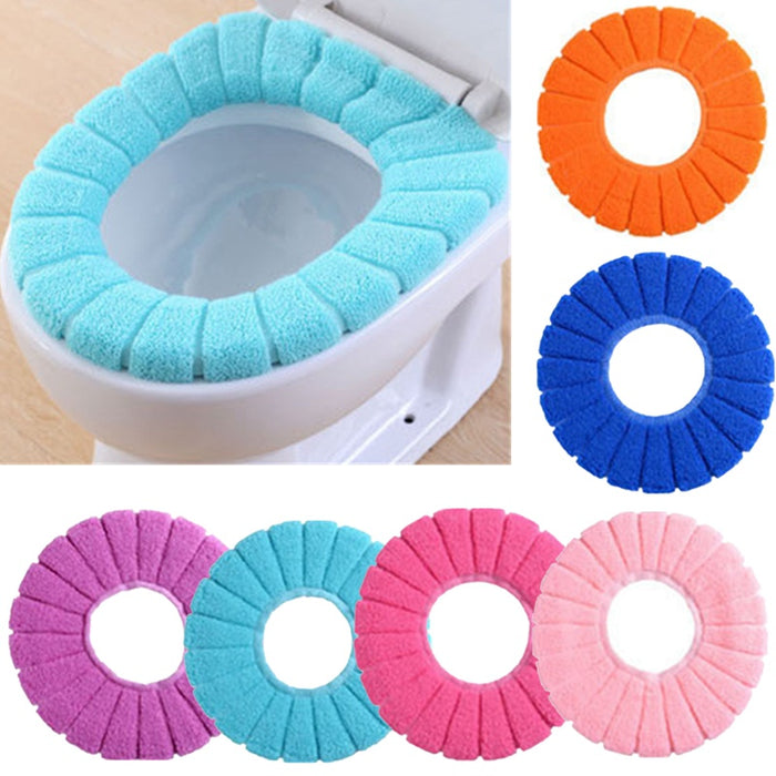 Soft Cute Lid Top Warmer Washable Toilet Seat Cover