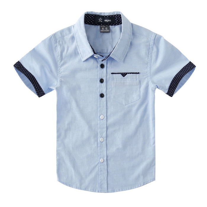 Oxford classic casual kids  shirts for boys 4-12 years old