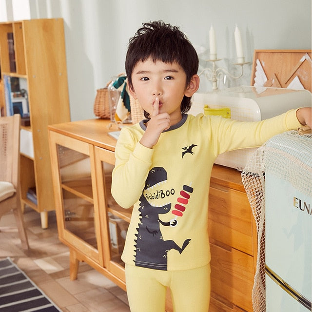 Kids Boys Dinosaur Pattern Night Cartoon Sleepwear