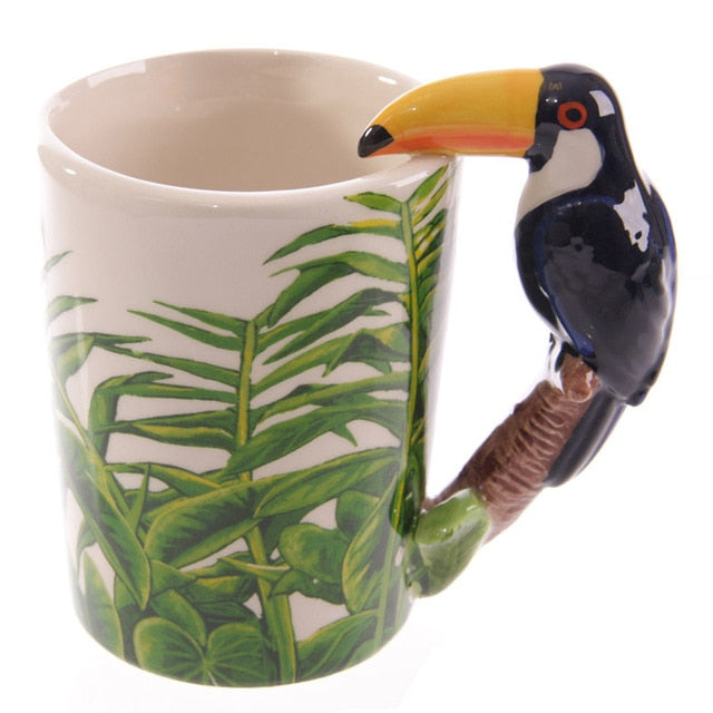 Parrot Woodpecker 3D Bird Mugs