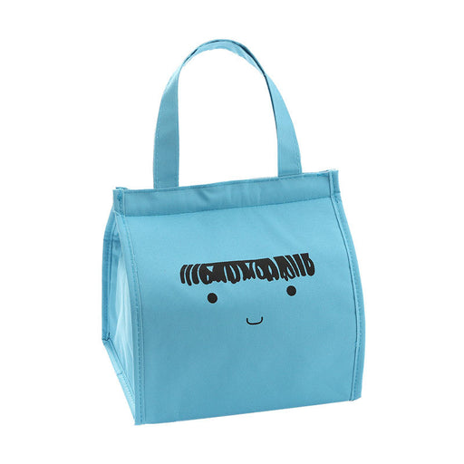 Thermal cartoon  insulation bag  for women men Blue
