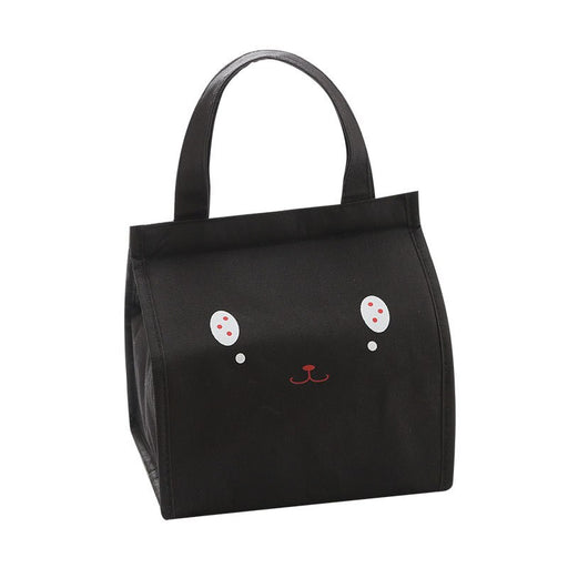 Thermal cartoon  insulation bag  for women men Black