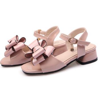 Fashion Girls Sandals Buckle Strap Shoes Pink