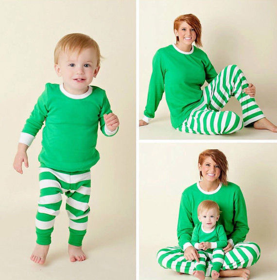 Striped Family Matching Christmas Pajamas Sets