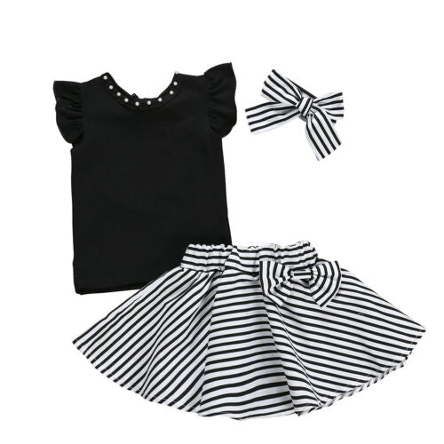 Summer Baby Girl Children Clothes Short Sleeve Sets