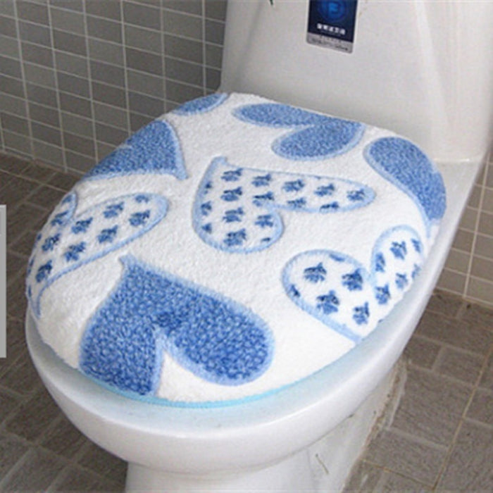 Super Soft Coral Fleece 2pcs toilet Seat Cover