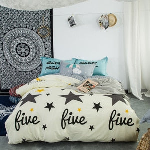 Cotton printed Sheet Pillowcases Duvet Cover Sets