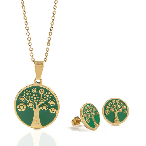Tree In The Blossom Life Of Tree pendant Jewelry Sets