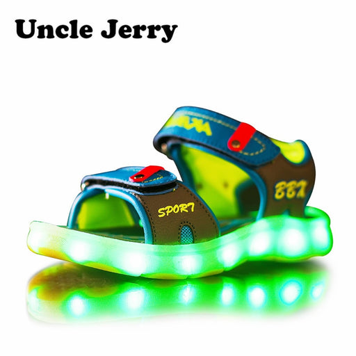 LED Sandals for Boys and Girls USB Charging Shoes
