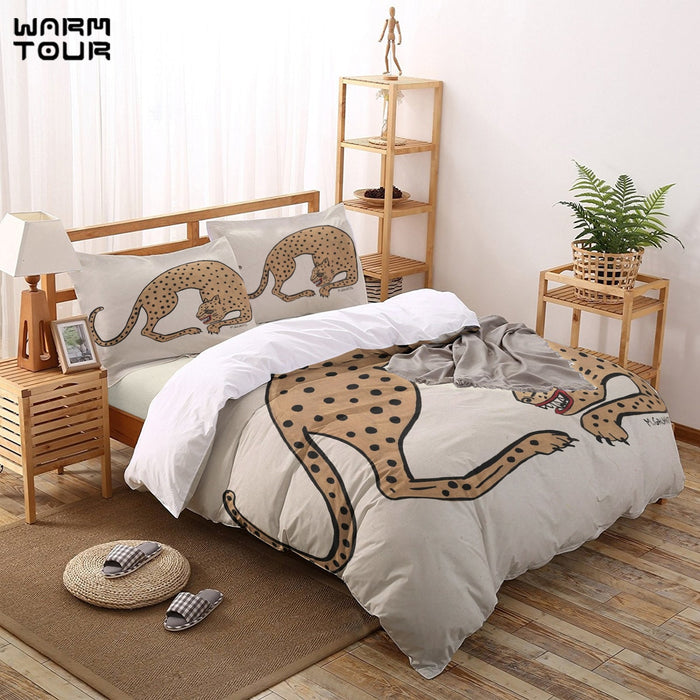 Cheetah Duvet Cover Set  4 Piece