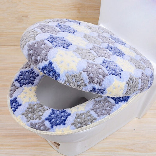 Warm Two-Pieces O-Shape Toilet Cover Seat