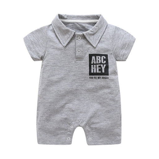 Summer baby boy short sleeve rompers