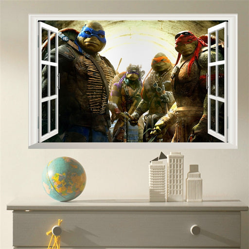 popular movie ninja turtles window wall stickers