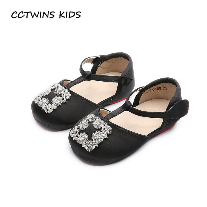 Kids T-Strap Baby Girl Fashion Pu Leather Shoe