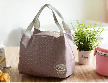 Flowers Pattern Portable Women Lunch Bag