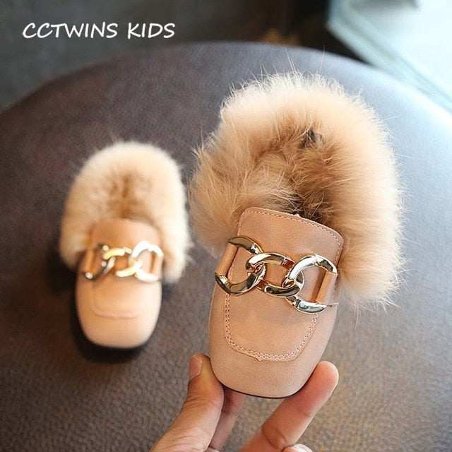 Toddler Chain Baby Girl boy Pu Leather Loafer Shoe