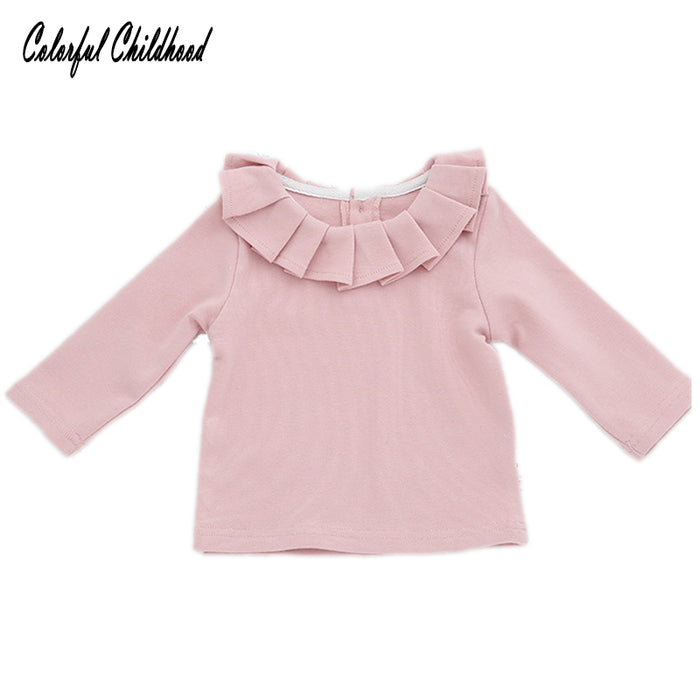Baby Girl Lotus Leaf Collar Tees Tops
