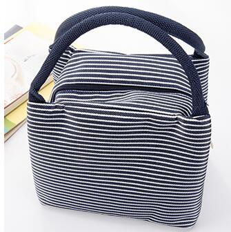 New Stripe Portable Lunch Bag Cooler Bag