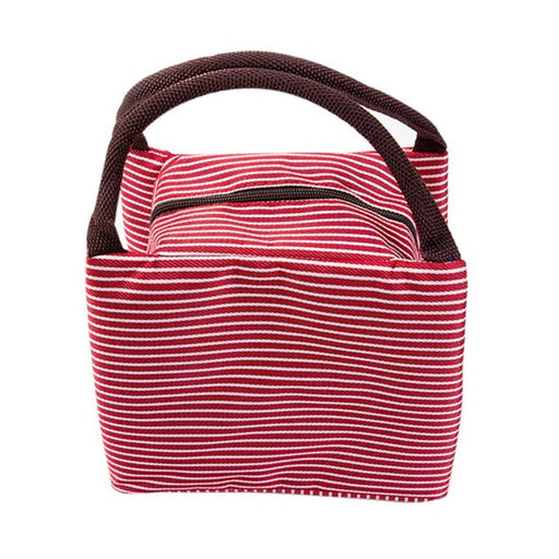 Canvas Striped Picnic Insulated Cooler Bags