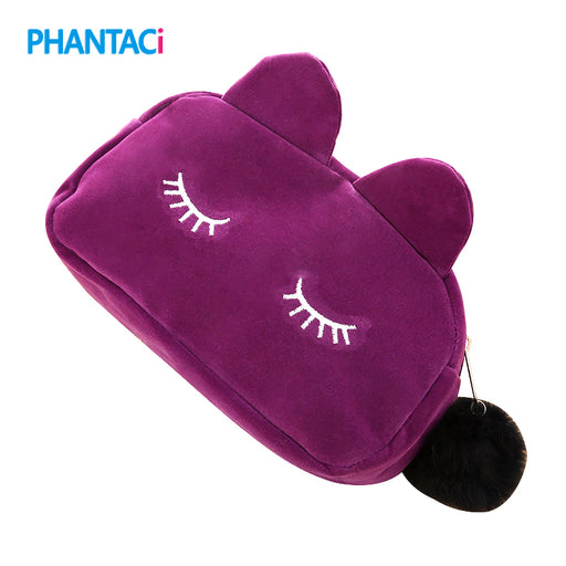 Cute Cat Plush Cartoon Pencil Case