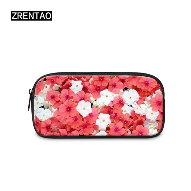 Kids Cute Floral pencil case purse