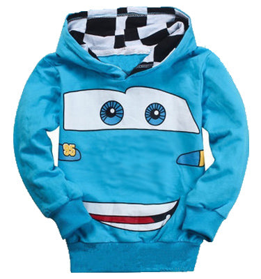 Fashion Boys Girls Cartoon Car Sport Hoodies