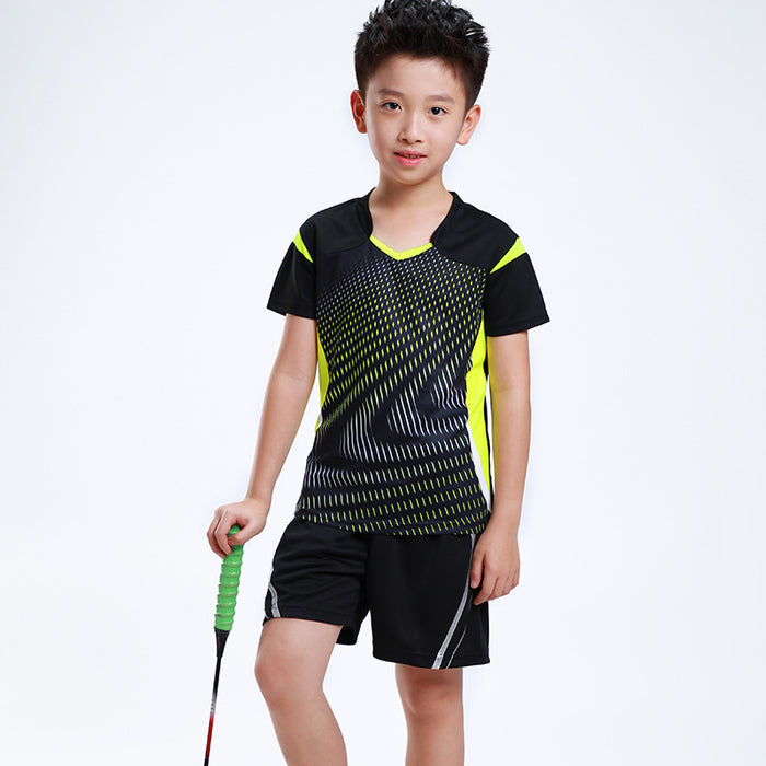 Free Print Children Badminton clothes Boy  Girl sports Tennis tracksuit