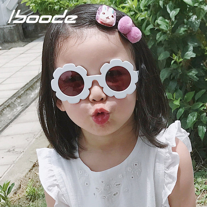 Vintage Baby Sunglasses Kids Flowers Shaped Retro UV400 Protection Sunglasses