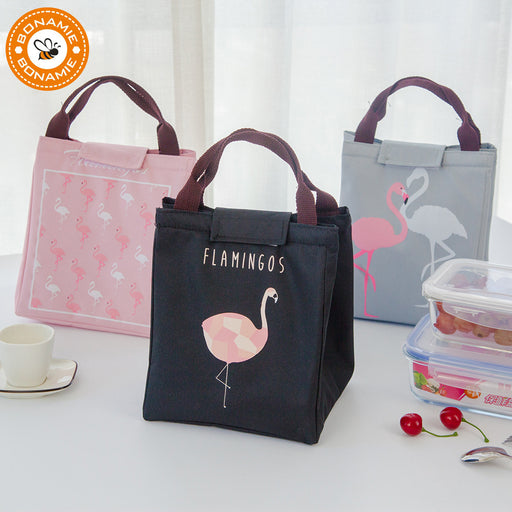 Flamingo Waterproof Oxford Tote Lunch Bag