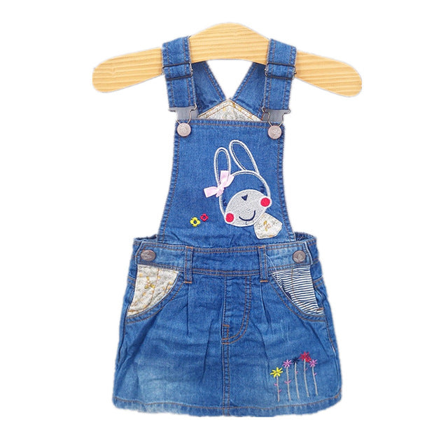 Summer Clothes Denim Straps Overalls For Girls
