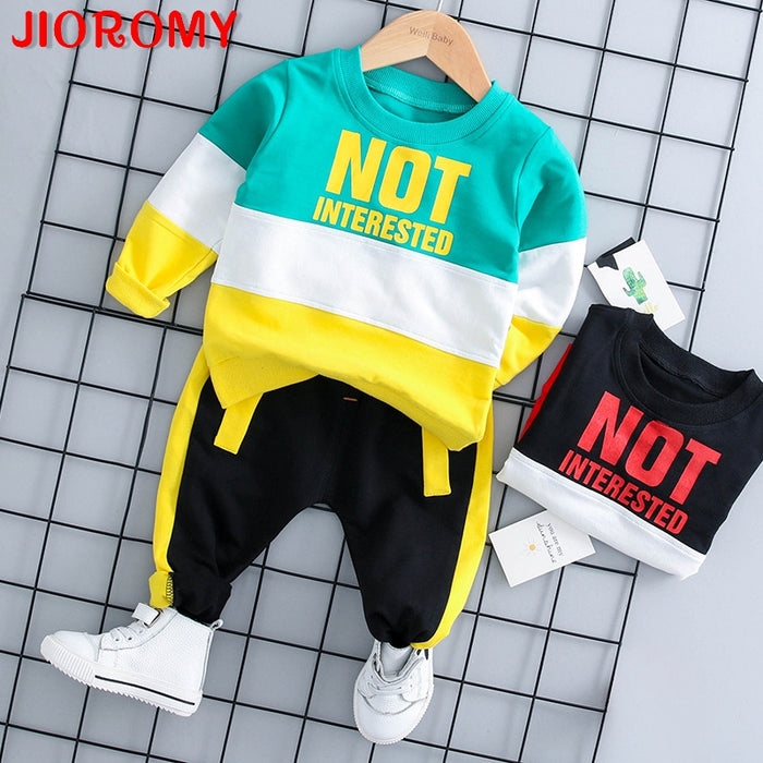 Baby Boy Two-piece Long-sleeved T-shirt Pants Sets