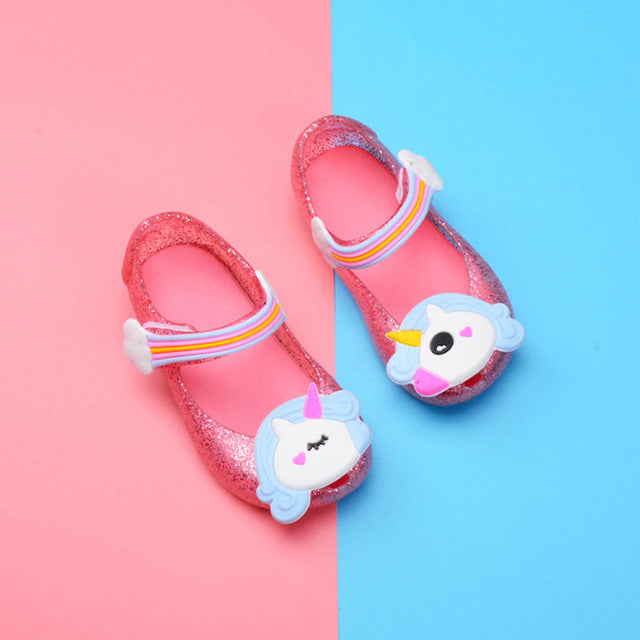 987c982ec7f4 kids sandals girls Cartoon Non-slip Baby beach Shoes