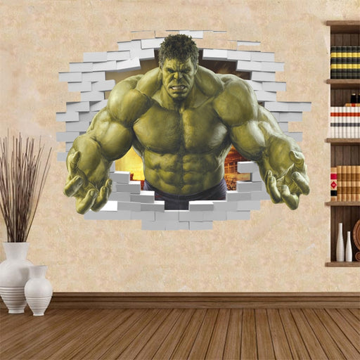 violent Avengers Hulk Peel through wall sticker for kids
