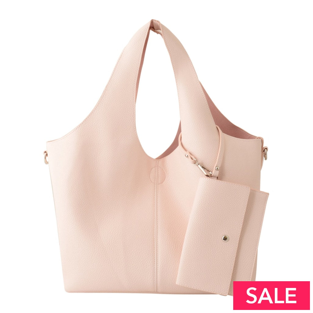 3 In 1 Tote Bags: Pink Silver Rose Gold Blush