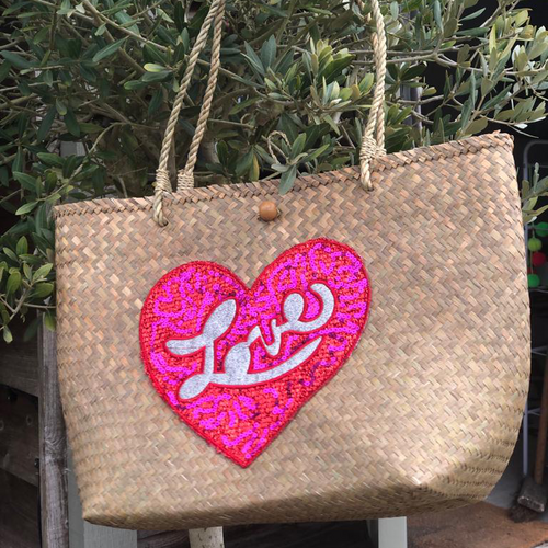 Large LOVE Beach Basket