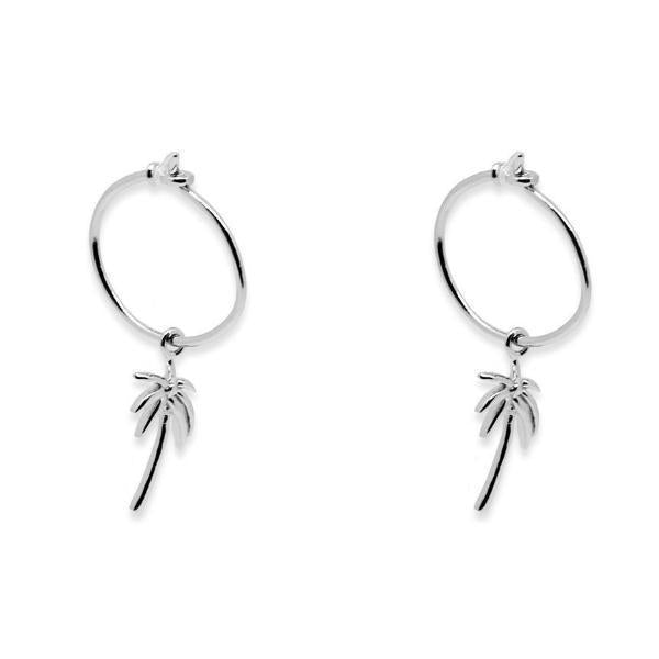 Byron Silver Palm Earrings