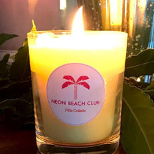 Neon Beach Club cocktail candles