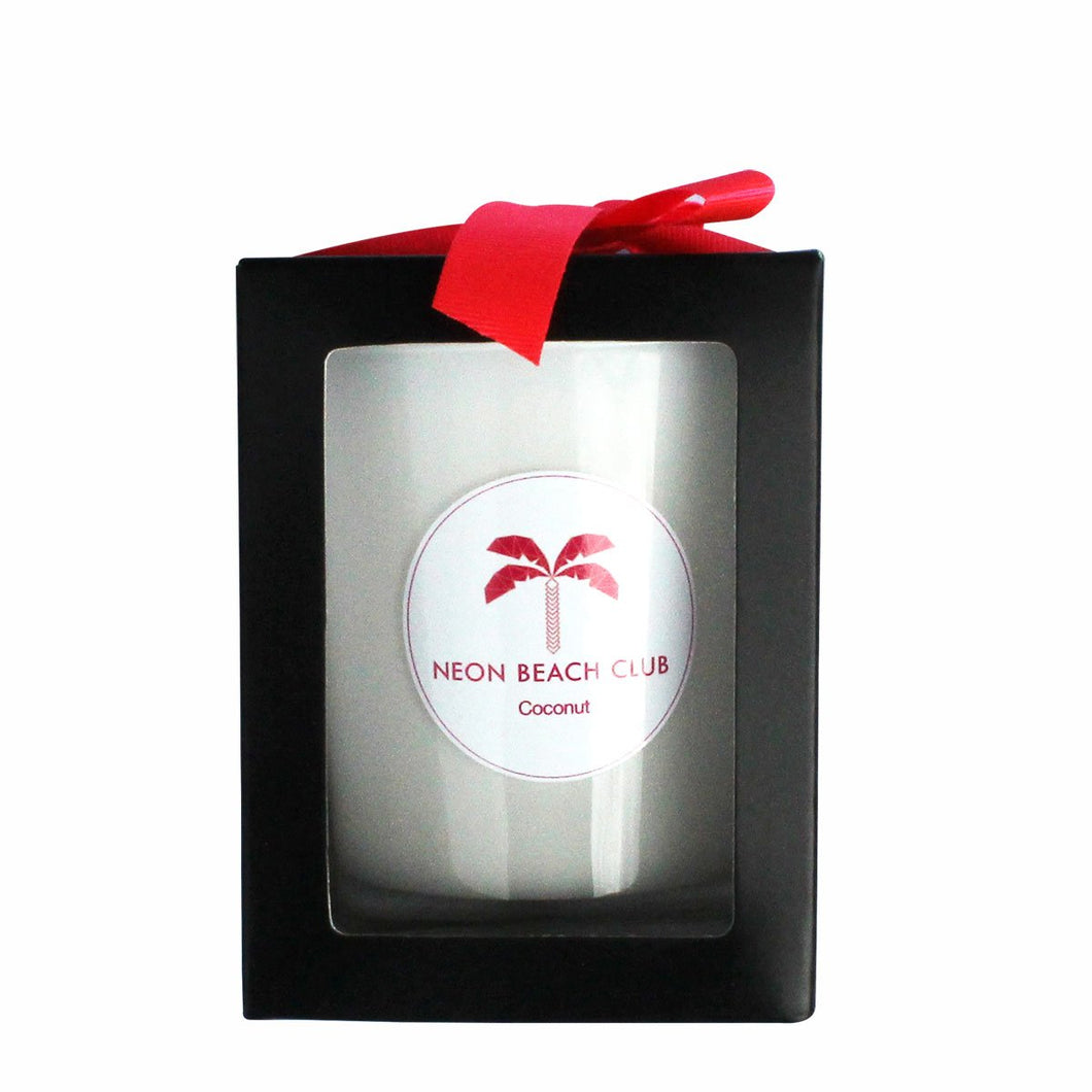 Neon Beach Club cocktail candles Coconut