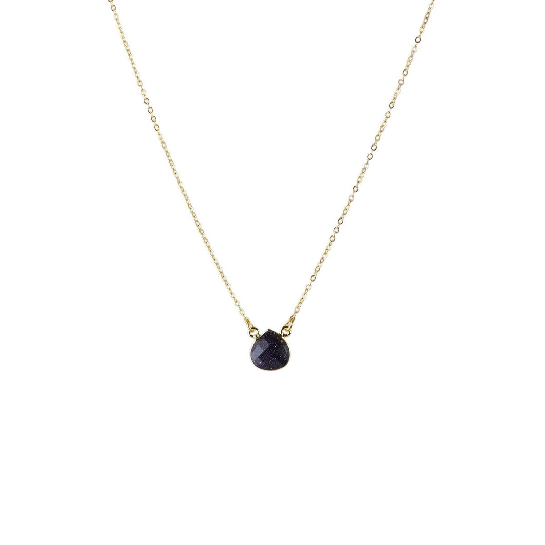 Cosmos Navy Sunstone Necklace