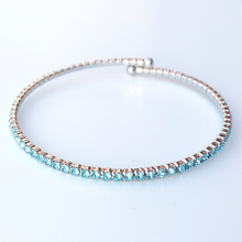 Crystal Sparkly Bangle Silver/sky Blue