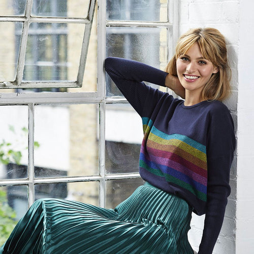Harriet Rainbow Striped Jumper
