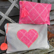 Large Patchwork Heart Pouch