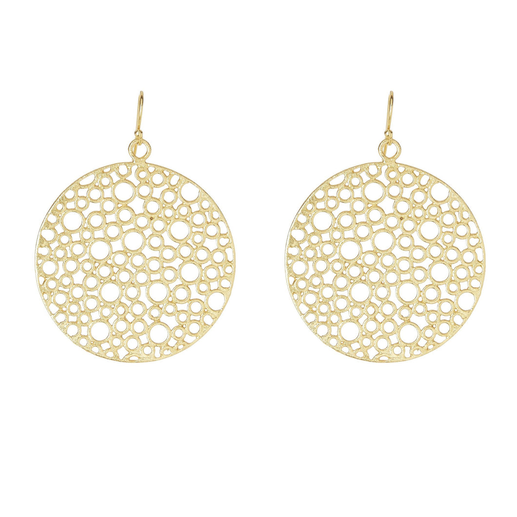 Bubble Cut Earrings Gold Jewellery
