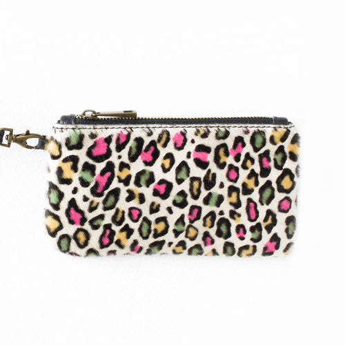 Neon Leopard Mini Clutch