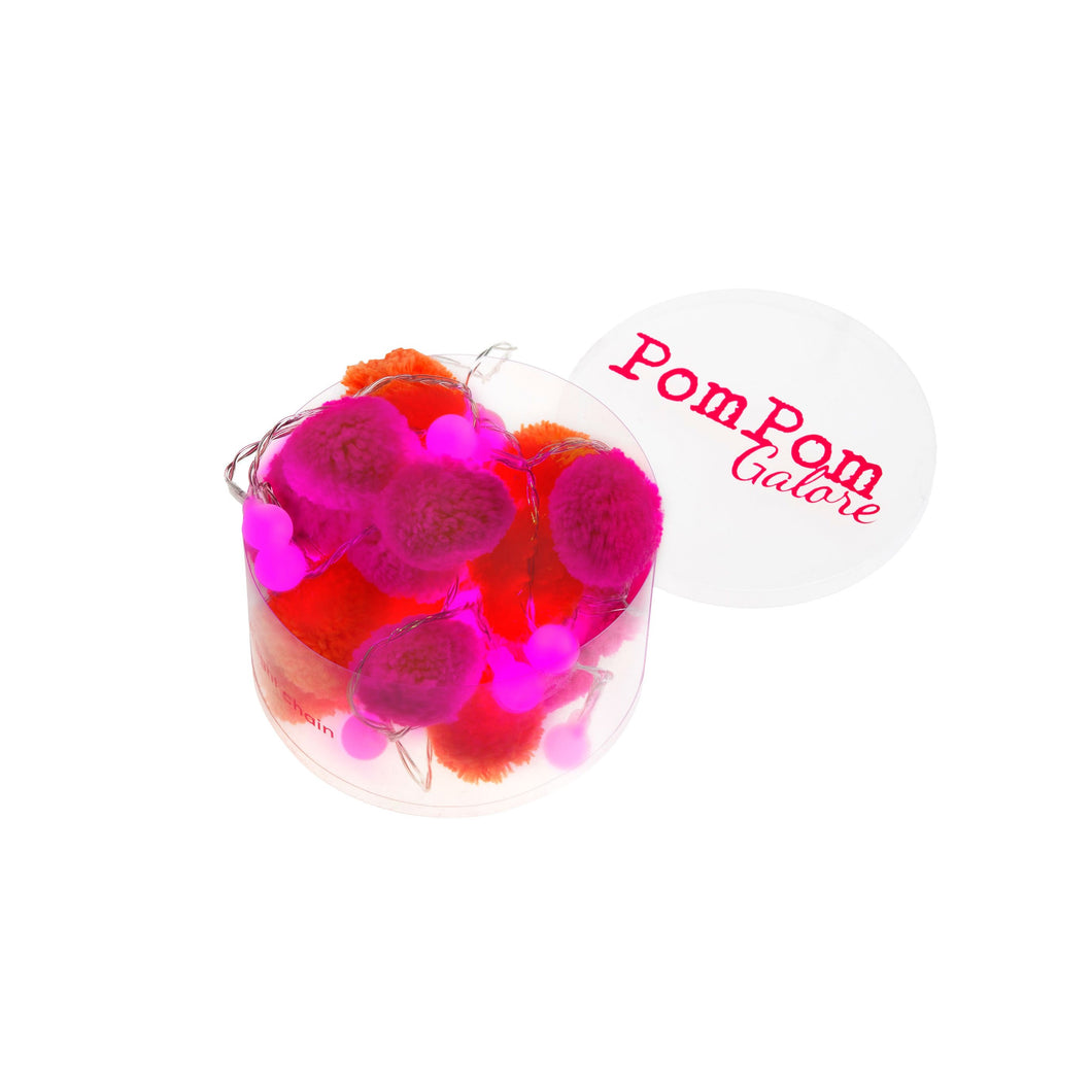 Pom Fairy Lights Pink/orange
