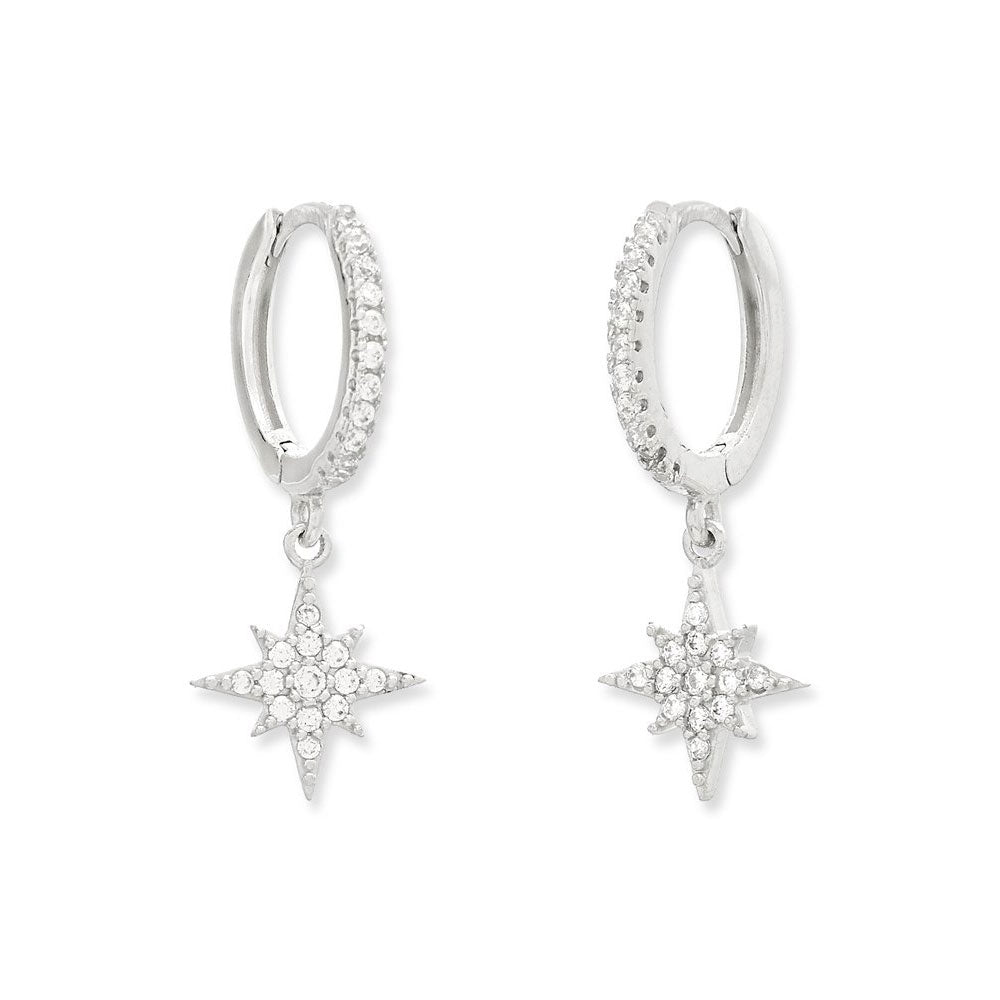 Sparkle Star Drop Earring