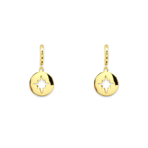 Gold Plated Star Drop Earrings