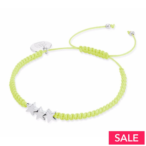 Neon Star Friendship Bracelets Yellow Jewellery